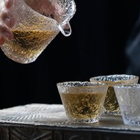 Ice Series Glass Sake Cup In A Set Of Two