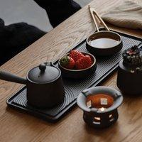 Kungfu Tea Set Of Seven Pieces Japanese Sand Garden