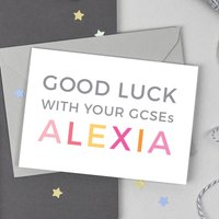 Personalised Good Luck Gcses Card