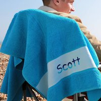 Personalised Towel With Two Colour Design