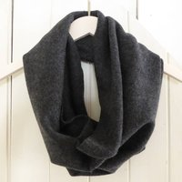 Cashmere Infinity Scarf Snood, Mustard/Grey/Navy