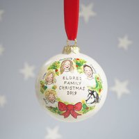 Custom Family Christmas Bauble Decoration