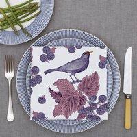Blackbird And Bramble Napkin Set Of Four