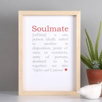 Personalised Soulmate Definition Print