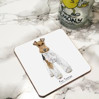 Fox Terrier Dog Drinks Coaster