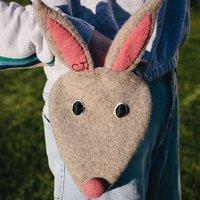 Rabbit Handbag For Children With Initials
