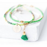Gold Cactus Bracelet Set, Gold