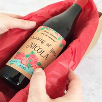 Personalised Thinking Of You Gift Wine