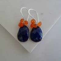 Carnelian Lapis Lazuli Earrings