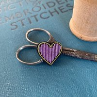 Heart Hand Embroidered Pin