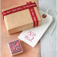 'Do Not Open' Christmas Stamp And Ribbon Set