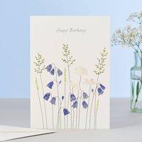 Harebells And Daisies Birthday Card