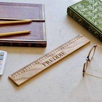 Personalised Oak Ruler