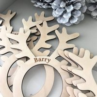 Personalised Set Of Christmas Napkin Rings