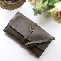 Leather Clutch Bag, Shoulder Bag, Green