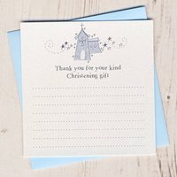 Sparkly Christening Thank You Card Pack, Pink/Blue