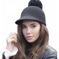 Edie Black Wool Pom Pom