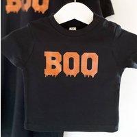 Baby Boo Metallic Halloween T Shirt
