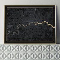 Limited Edition London Screen Print In Black And Gold