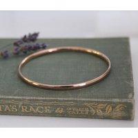 Nine Carat Rose Gold Solar Bangle, Gold