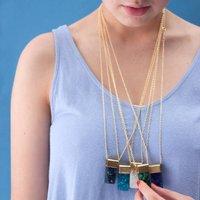 Big Druzy Necklace, Turquoise/Indigo/Jade