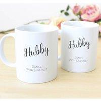 Hubby And Hubby Personalised Mug Set