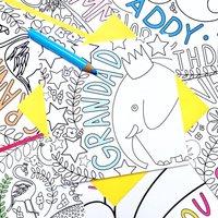 Colour And Send 'Grandad' Elephant Card