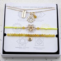 Solar Plexus Chakra Jewellery Set In Gold Or Silver, Silver