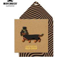 Handmade Top Hat Sausage Dog Birthday Card