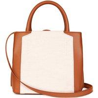 Vegan Mini Handbag: Tan And Cream