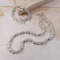 Solid Sterling Silver Jewellery Set, Silver