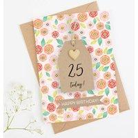 Personalised Birthday Card Floral Tag
