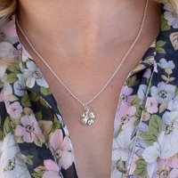 Four Leaf Clover Necklace And Personalised Message Card