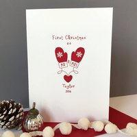 Personalised 'Mr And Mrs' First Christmas Card