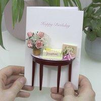Personalised Birthday Cake Luxury Card