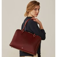 Personalised Luxury Genuine Leather Handbag Fiorella, Chestnut/Tan/Dark Chocolate