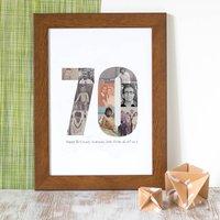 Personalised Birthday Photo Print 60th 70th 80th