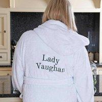 Personalised Luxury Cotton Hooded Bathrobe