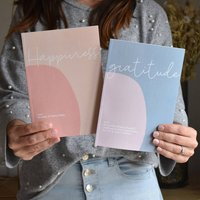 Set Of Two Slim Journals Gratitude And Happiness