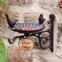 Personalised Garden Wall Mounted Bird Feeder Bracket
