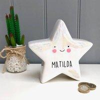 Children's White Star Money Box
