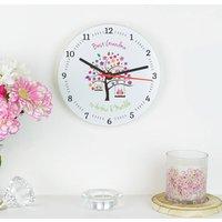 Personalised 'Best Grandma' Clock