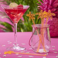 Tropical Orange Palm Drink Cocktail Party Stirrers