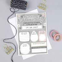 Personalised Wedding Keepsake Card