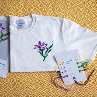 Idyllic Iris T Shirt Cross Stitch Kit
