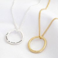 Personalised Organic Style Hoop Necklace