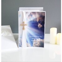 X Large Personalised Christening Card Crystal Cross