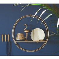 Circular Shelf With Inset Mirror