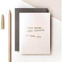 Mini Gold Foil Love Card