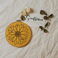 Sunflower Language Of Flowers Hoop